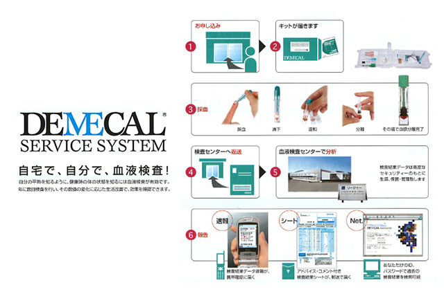 郵送血液検査キット DEMECALのメインイメージ
